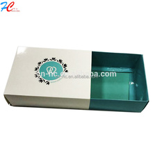 Cheap paper box custom printed/ folding customized sliding paper drawer box with silver stamping