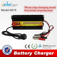 15A universal solar battery charger 12v