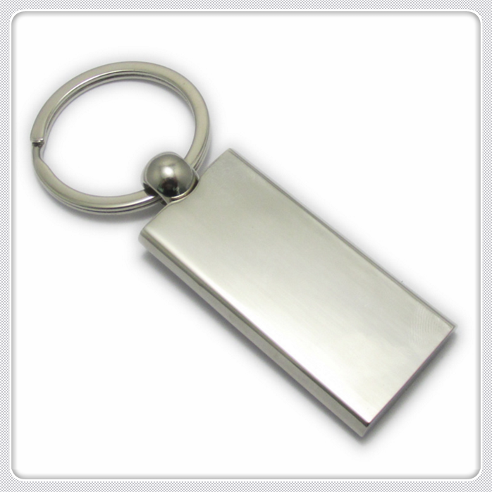 stainless steel made 3d blank square shape keychain