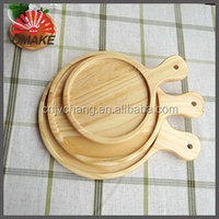 Top selling products in alibaba round head short handle wooden pizza tray