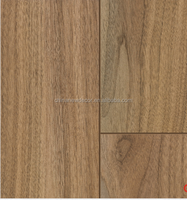 8 12mm cheap waterproof factory direct walnut color v groove laminate flooring