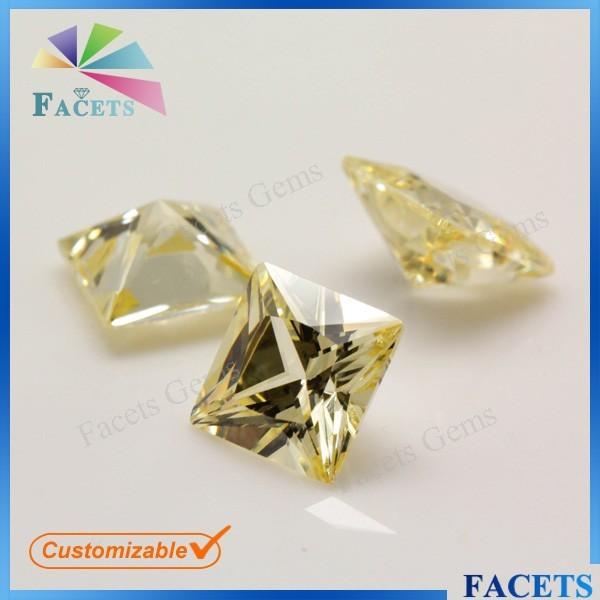 Square Princess Cut Natural Uncut Yellow Diamond Fancy Yellow Diamond Wholesale
