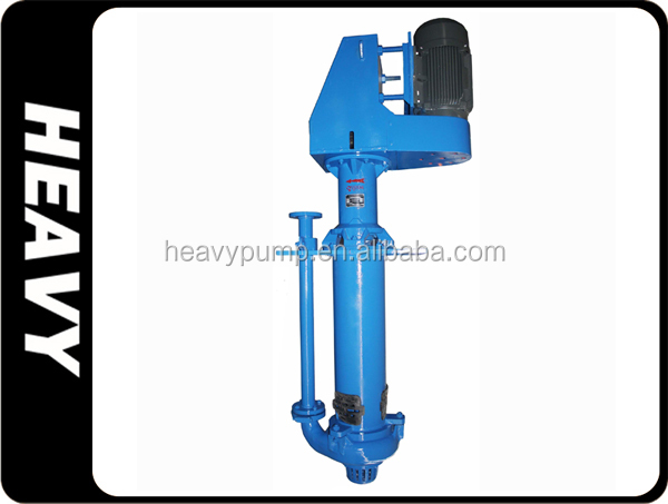 rubber lining vertical sump pump longer shaft in tailing tank