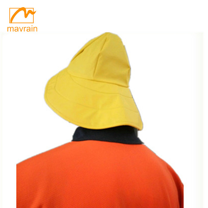 workwear pu with polar fleece rain hat cap