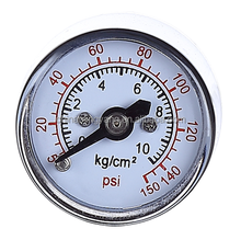 Exclusive gold-plated dry ordinary ss bar psi kg/cm2 pressure gauge