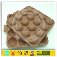 16-cavity Half Circle Silicone Cake Pop Stick Mold Tray