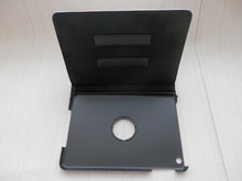 Leather Cover, with white blank sublimation printing and with dormant for ipad mini