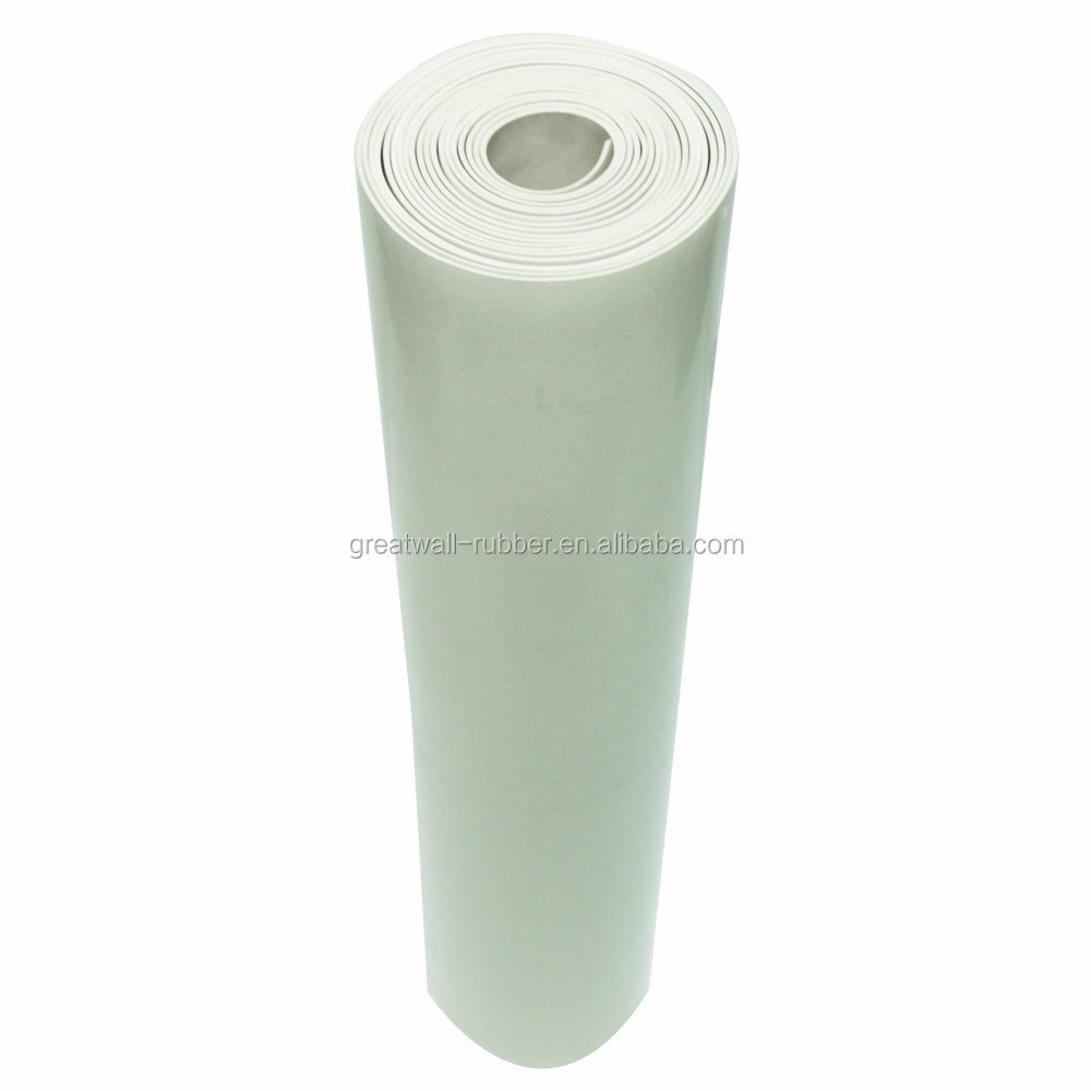 White NBR Nitrile rubber sheet roll 10m length food grade FDA quality ISO9001 REACH ROHS
