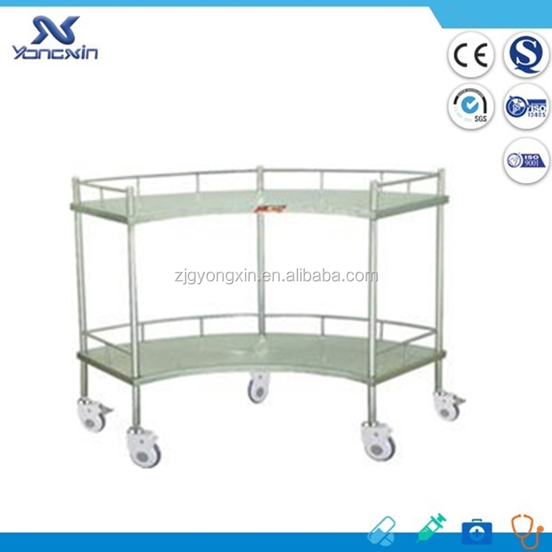 Stainless Steel Moving Hospital Nursing Clinic Trolley