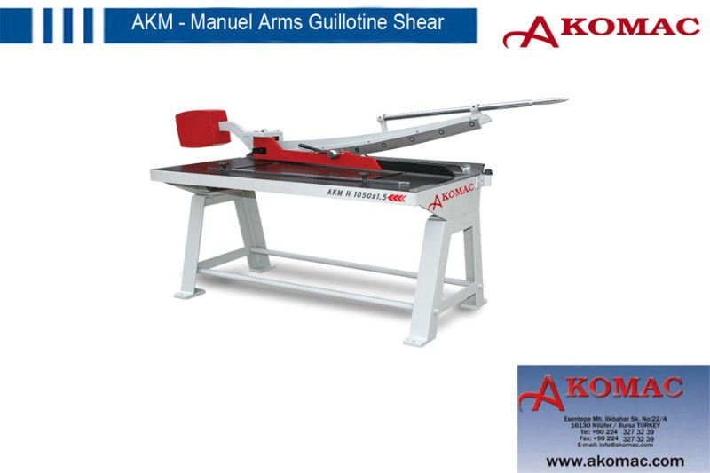 Manual Arm Guillotine Shear Machine AKM