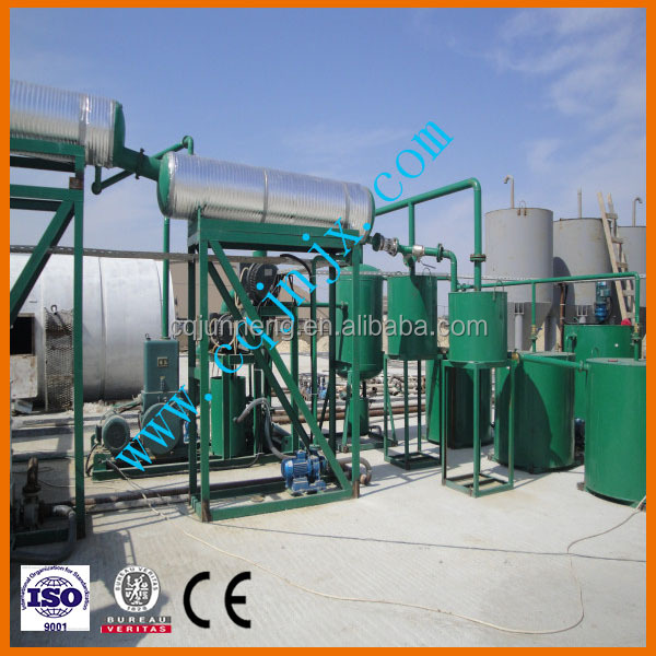 Black Dirty Oil Cleaning/Bleaching to Yellow Oil Refinery Machine