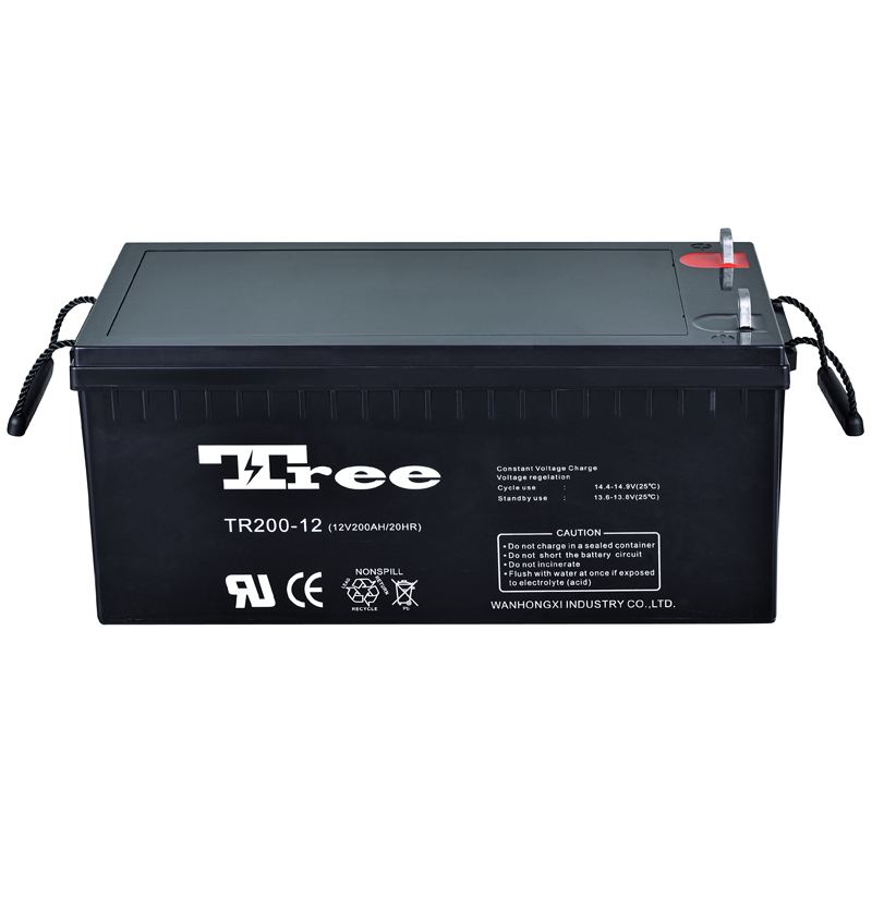 Manufacture Low price 12v 200ah high efficiency solar wind power storage battery