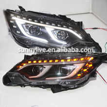 2015 Year TOYOTA Camry v55 LED Head Lamps LED Headlights Bi Xenon Projector Lens WH