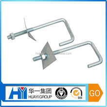 custom high quality steel with zinc plated l shaped bolt,l type anchor bolt