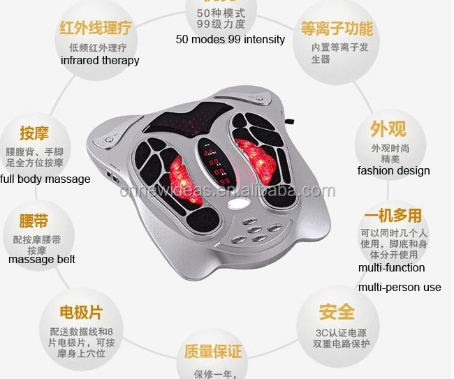 Wholesale Smart electromagnetic wave Pulse foot massager for blood circulation