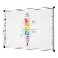 "Cheap China Smart Class IR multi touch Interactive Whiteboard 85"" With colorful pentray"