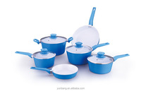 pressing aluminum 10pcs set ceramic coating cookware set