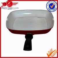High quality cast iron grill pan with removable handle