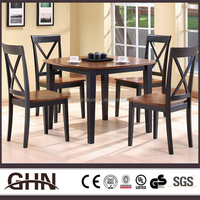 Luxury modern design table set 3745 olive wood furniture for wholesales