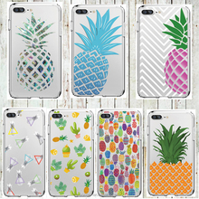 Soft Silicon Fruit Pineapple Phone Case For iPhone 7 7Plus 6 6s 5 5s SE Cases Transparent Clear TPU Protective Coque Capa Cover