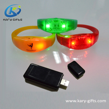 ABS+Silicon Color Change Light Timer Bracelets Flashing LED Wristband