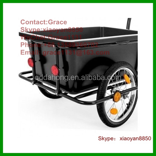 heavy Large capacity wanderer Bicycle Cargo Trailer with plasitc bucket fish travel trailer Pet Shopping Bike Cycle Cart Luggage