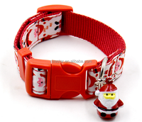 Factory supplied Christmas strong nylon pet collar for promotion