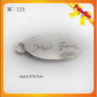 MC124 Promotion Oval Shape Engraved Jewelry Metal Logo Tag