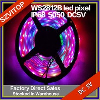 5050 DC5V WS2812B led pixel srip IP68 wterproof in silicon tube 30pcs with 30pixels 36W white board