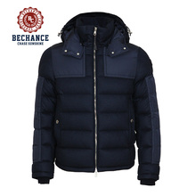 2017 new design mens thick padded down jacket with hoodies for winters