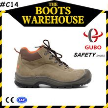 anti static lab petrol resistance suede leather safety shoes