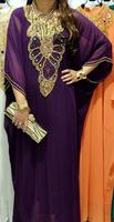 Hot Arrival Multi Color Bead Embroidered Pretty Women Kaftan 2013