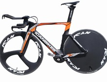new carbon complete Triathlon bicycle TT frame TT01 time trial bike with disc wheel tri spoke wheel