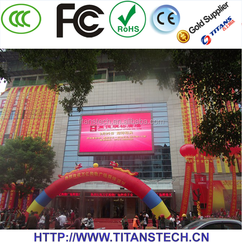 p10 single color outdoor advertising big size billboards led display screen prices
