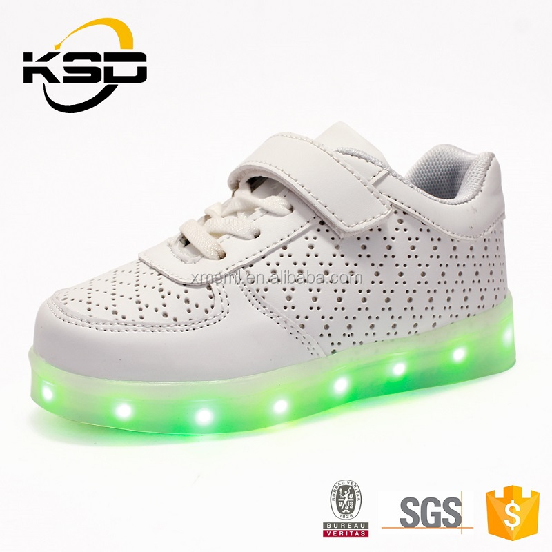 2016 best sell Shoes Kids Children Super Models Child Beautiful Without Dress LED Shoes
