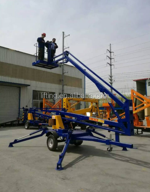 CE SGS TUV Towable boom lift for sale articulated hydraulic lift platform