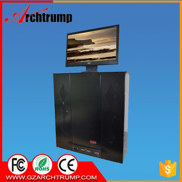 CE RoHS FCC Aluminium Computer LCD Monitor Lift for Conference Room