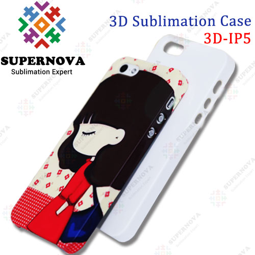 3D Sublimation Blank Phone Case for iPhone5