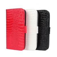 Crocodile Wallet Leather Cases for Samsung Galaxy s4 mini 19190