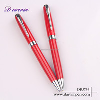Hot Saling Promotional Metal Red Best Ballpoint Pens For Writing