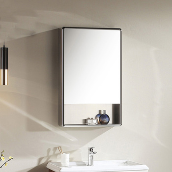 high quality stainless steel bathroom mirrored cabinet 500*800mm