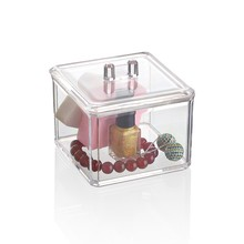 Clear makeup storage box, perspex cosmetic organizer plastic desktop storage case