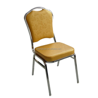 Chrome Stackable Rose Gold Metal Chair