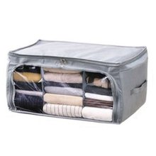 foldable cloth storage/non-woven home clothes container/box for quilt organizer