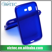 Factory wholesale tpu rubber glossy back cover case for Samsung Galaxy S5222