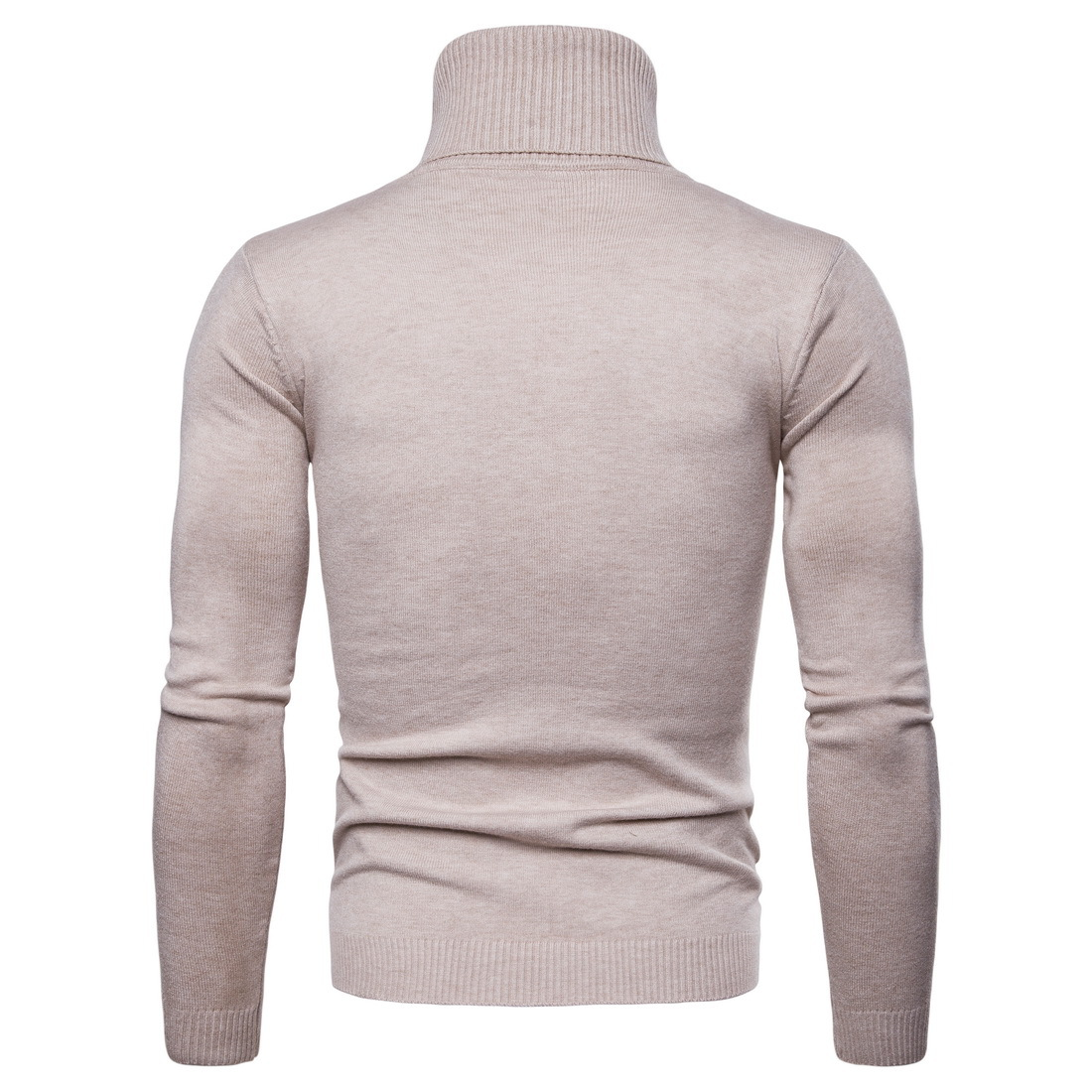 latest handsome men cotton blending 8 color solid dyed high collar sweater knitwear