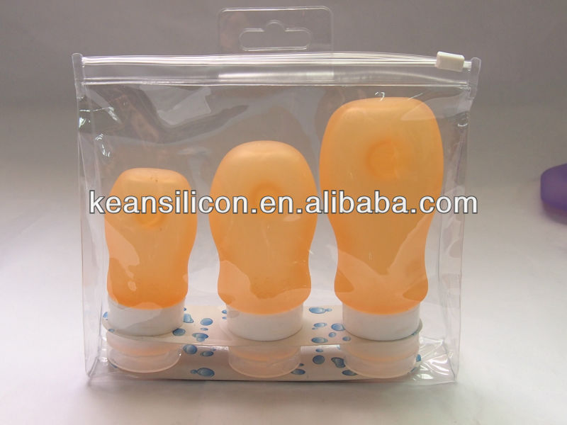 2013 Latest Design Best Business Giveaways/3oz Silicone Travel Tubes Made In China/Tcivilized squeezable tube