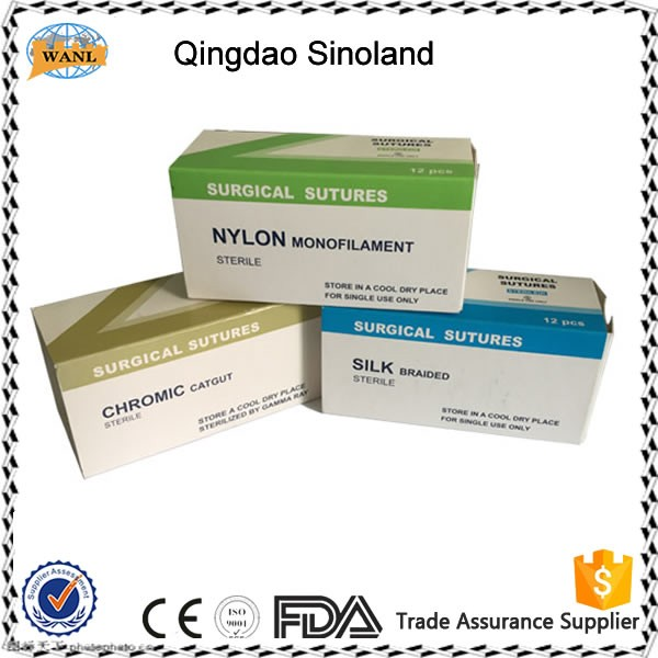 Sterile PDO/chromic catgut/PGA/silk surgical sutures