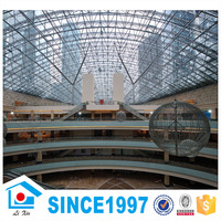 China high quality steel structure net rock truss construction for shopping mall