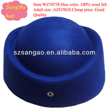 wholesale ladies felt formal hat for airline uniform